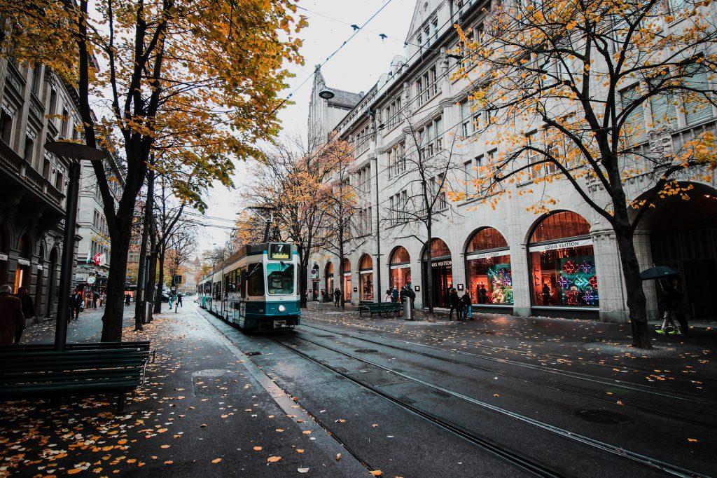 herfst in de straat